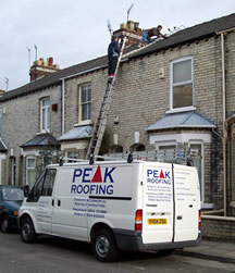 Roofing work in Yorkshire